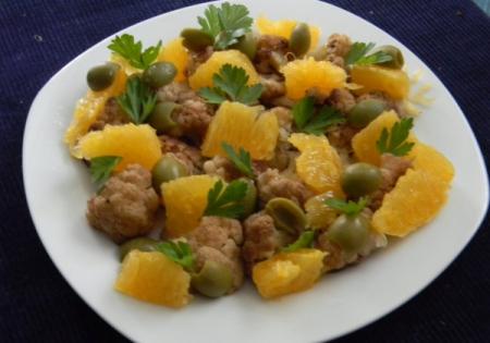 Рецепт Салат с цветной капустой и апельсинами