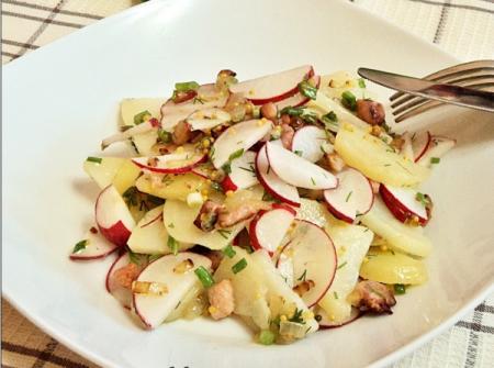 Рецепт Картофельный салат с редиской