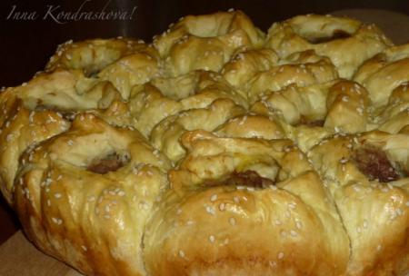 Рецепт Порционный мясной пирог