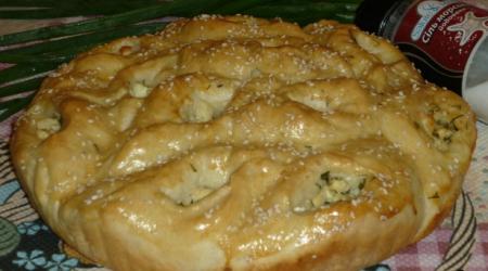 Рецепт Пирог с брынзой и укропом