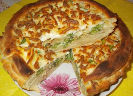 Рецепт Пирог с капустой и стручковой фасолью