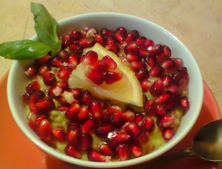 Рецепт Десерт из авокадо с гранатом и грейпфрутом