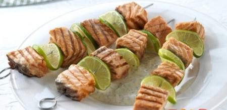 Рецепт Шашлык из лосося с лаймом
