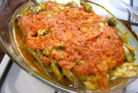 Рецепт Бычки в томатном соусе в духовке