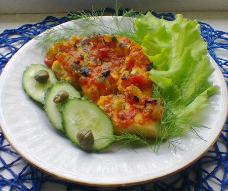 Рецепт Рыба со сладким перцем