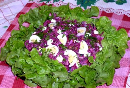 Рецепт Салат из свеклы с мясом