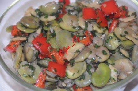 Рецепт Кисло-сладкий салат с бобами