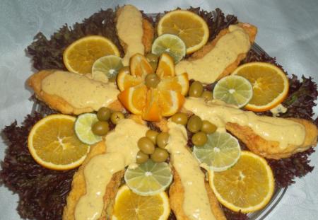 Рецепт Семга в сливочно-апельсиновом соусе