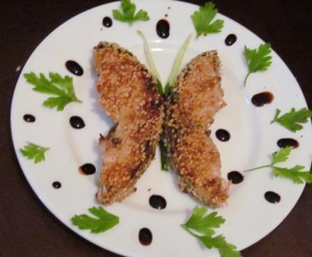 Рецепт Тунец в кунжуте
