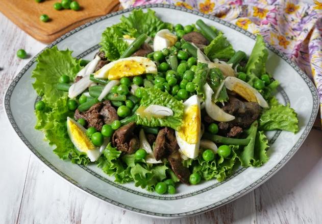 рецепты салатов с фасолью и горошком