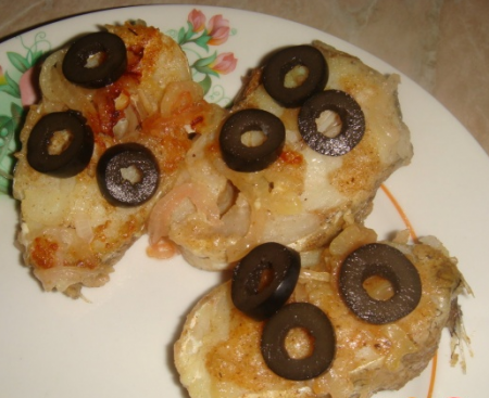 Рецепт Треска, жаренная с луком