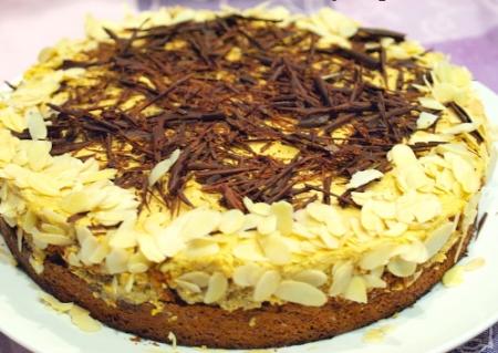 Рецепт Торт из миндального бисквита с кофейным кремом
