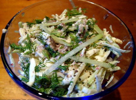 Салат из языка, по-восточному