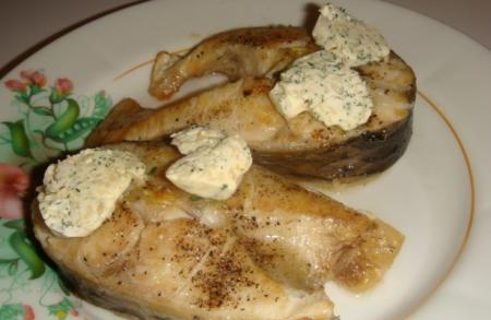 Рецепт Рыба с масляным соусом