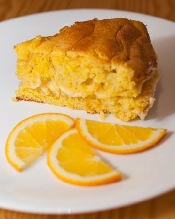 Рецепт Апельсиновый бисквит с нежным кремом