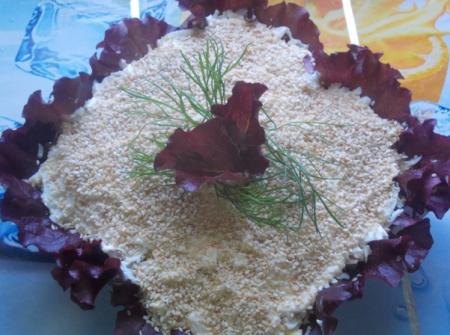 Рецепт Куриный салат с бананом