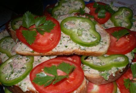 Рецепт Бутерброды с печенью трески