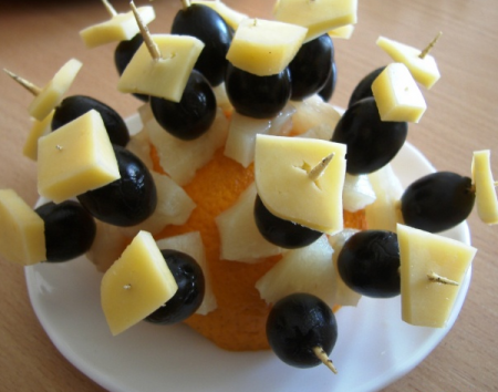 Рецепт Закуска фуршетная на апельсине