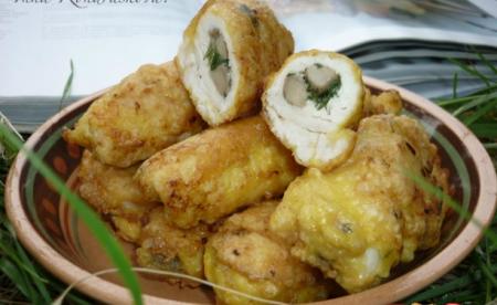 Рецепт Куриные рулетики с грибами