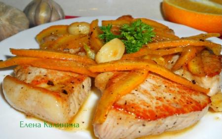 Рецепт Свинина в цитрусовой карамели