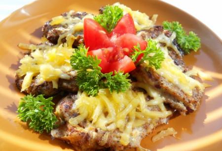 Рецепт Оладьи кабачково-мясные с сыром