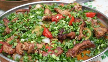 Рецепт Ребрышки с овощами в казане