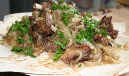Рецепт Бараньи ребрышки с луком