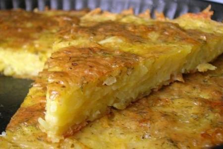 Рецепт Запеканка из тертого картофеля с сыром и чесноком