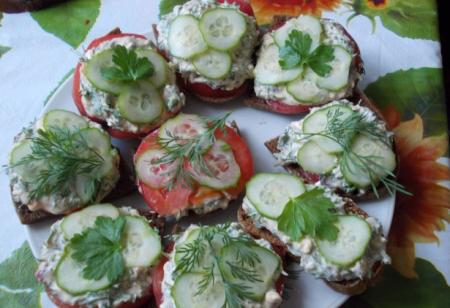 Рецепт Бутерброд с брынзой