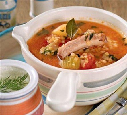 Рецепт Густой томатный суп из баранины с чечевицей