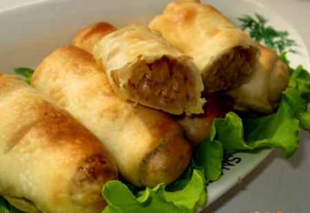 Пирожки с капустой из теста фило