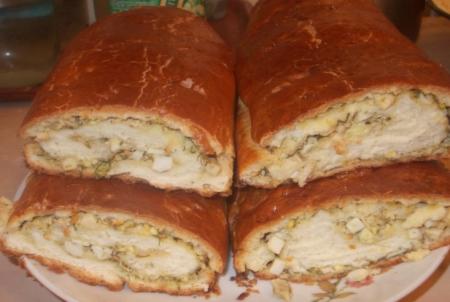 Рецепт Рулет с яйцом и луком