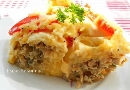 Рецепт Заливной пирог из лаваша