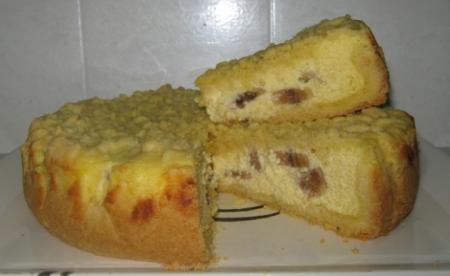 Рецепт Творожно-банановый пирог