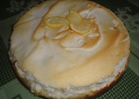 Рецепт Лимонный торт с безе