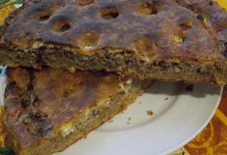 Рецепт Гречневый пирог с мясом