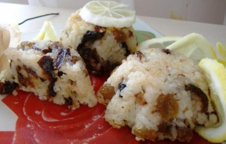 Рецепт Рисовые кексы с изюмом и черносливом