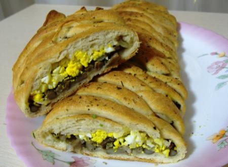Рецепт Пирог с яйцами и грибами