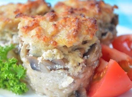 Рецепт Мясные мини кексы с грибной начинкой