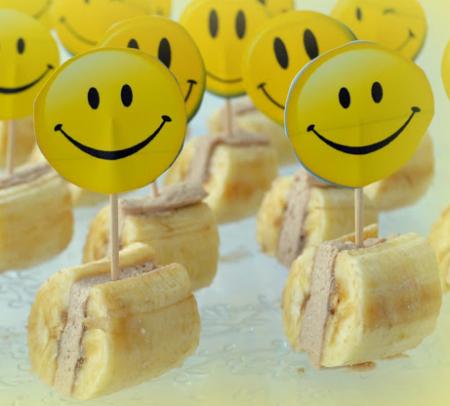 Рецепт Банановые мини-сендвичи с творожным кремом