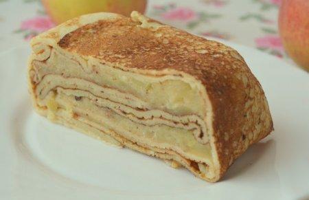 Рецепт Блинный террин с ароматной яблочной начинкой