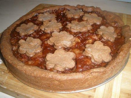 Рецепт Шоколадно-яблочный пирог из песочного теста