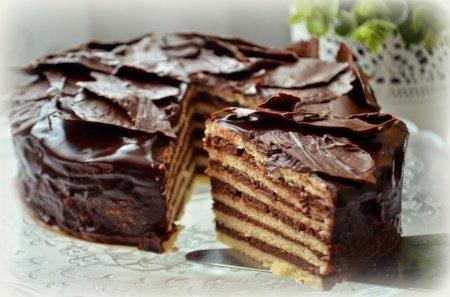 Рецепт Песочный торт с шоколадным пудинговым кремом