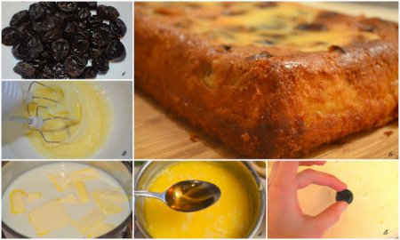 Рецепт Бретонский пирог с черносливом