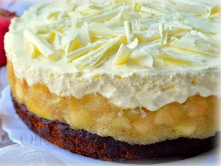 Рецепт Медовый торт с яблоками и сливочным муссом