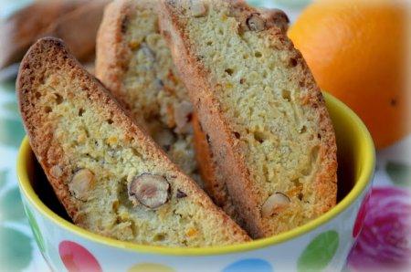 Рецепт Бискотти с апельсином и фундуком