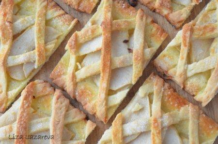 """Песочное яблочное печенье """"За решеткой"""""""