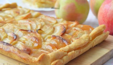 "Рецепт Яблочная пицца на классическом тесте ""Фризе"""