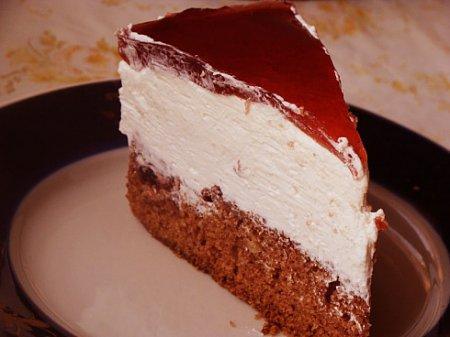 Рецепт Вишневый торт бисквитный с муссом