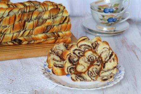 Рецепт Витой рулет с шоколадом